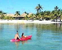 Kayaking at Captain Morgan's Beach
