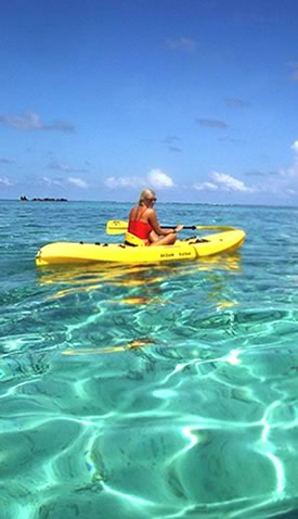 Kayaking, Turneffe Resort