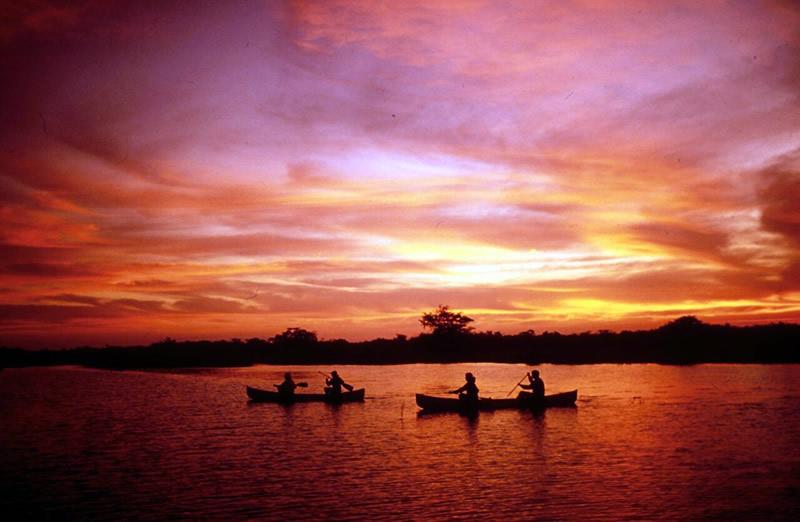 Sunset Canoeing