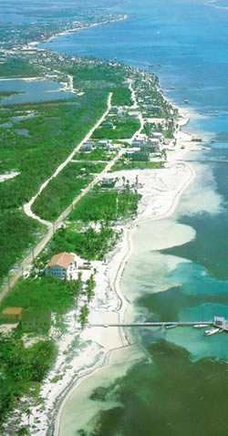 Aerial View of Ambergris Caye