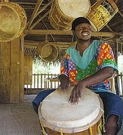 Garifuna Native Drummer